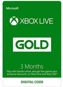Xbox Live Gold 3 Month Code (360/One Subscription)